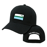 Cap - Labrador Flag w The Big Land on back - Black