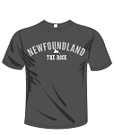 Adult T Shirt  - Newfoundland -  The Rock - Newfoundland Map - Charcoal