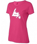 Ladies  T shirt - Home - Cyber Pink