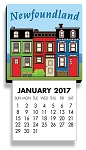 Calendar - Magnetic - Downhome Rowhouse - 2018 - 4 1/2 x 2 1/2