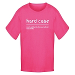 Youth - T Shirt  - Hard Case -  Definition - Hot Pink