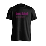 Mens - T Shirt -  Best Kind- Black