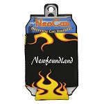 Neopreme Can Holder - Black w Flames