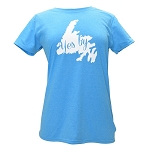 Ladies - T Shirt - Yes B'Y - Blue