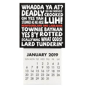 "Mini  Calendar - Magnetic - Newfoundland Sayings  - 2019 - 4 .5"" x 2 .5"""