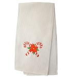 Tea Towel -  Waffle Cotton - Christmas Candy Cane -