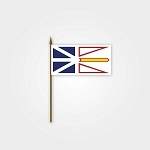 Flag - Newfoundland Flag on Stick - 4 x 6