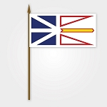 Flag - Newfoundland Flag on Stick - 12 x 18