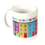 Mug - Rowhouses of St. John's, Newfoundland - Bright colours