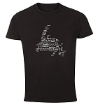 Mens - T Shirt - Newfoundland  Place Names Map