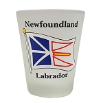 Frosted Shot Glass - Newfoundland and Labrador