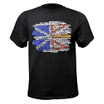 Men's - T Shirt - Newfoundland Flag w Place Names