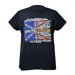 Ladies - T -Shirt - Newfoundland Flag w Place names