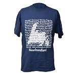 T Shirt - Newfoundland  Sayings Drop Out - Dark Blue