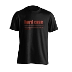 Mens - T Shirt - Hard Case - Black