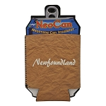 Neopreme Can Holder - Brown Bag - Newfoundland