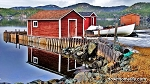 Canvas Photo - CP13 - 11 x 14 - Red Fishing Stage