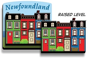 "Magnet -  Wooden 2D - Downhome  Rowhouse 2 1/2"" x 2 1/2"""