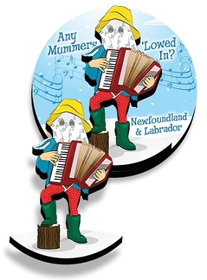 Magnet - Wooden - 2D - Downhome Mummer - 1 1/2""