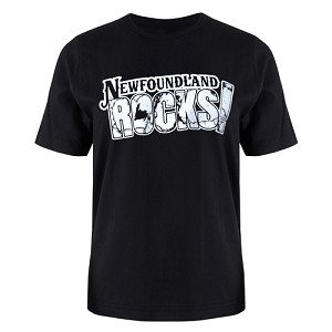 Men's T Shirt - Newfoundland Rocks! - Black