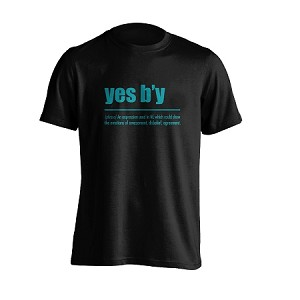 Mens - T Shirt -  Yes B'Y - Black